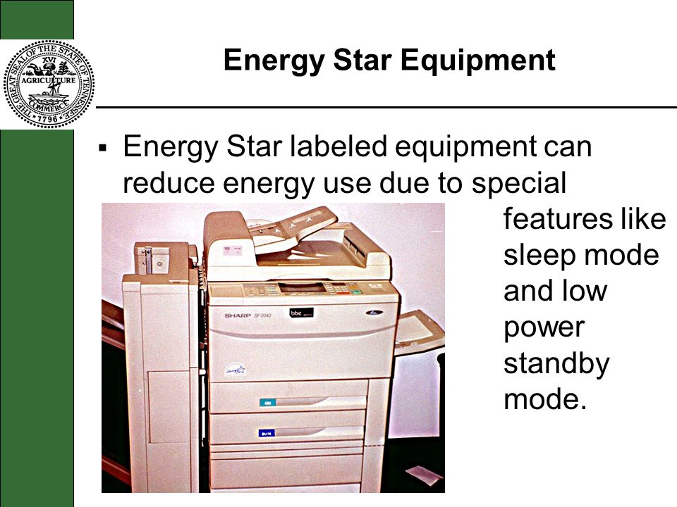 Energy Star Equipment