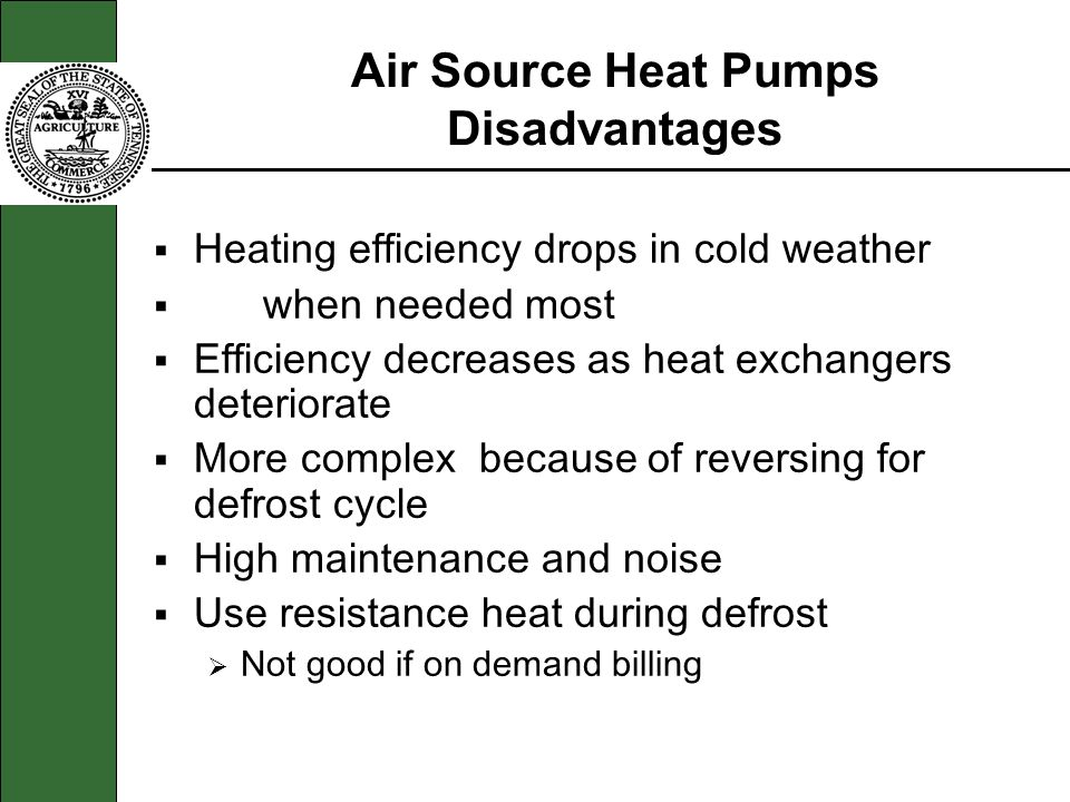 Air Source Heat Pumps Disadvantages