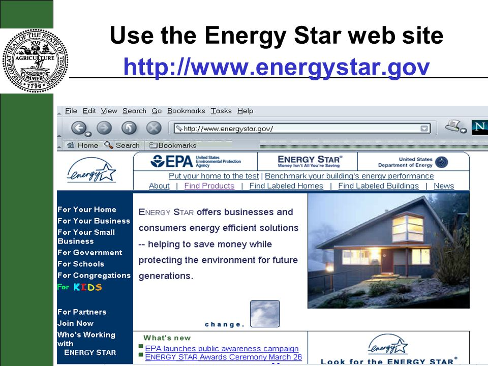 Use the Energy Star web site http://www.energystar.gov