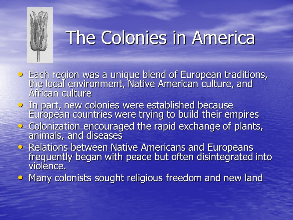 The Colonies in America