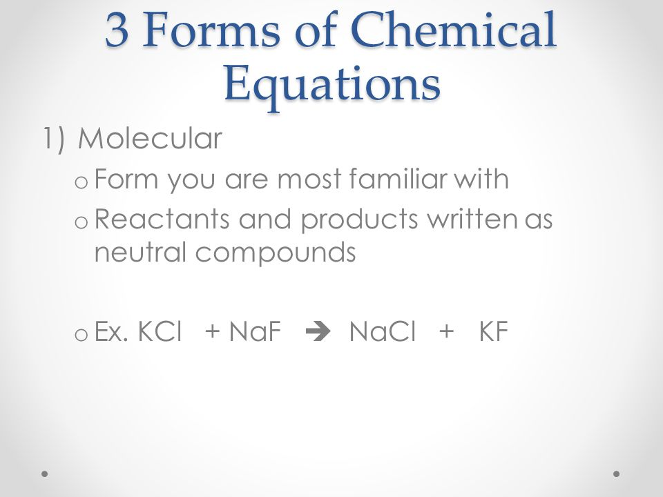 Ionic Equations Ppt Video Online Download. 3 Forms Of Chemical Equations. Worksheet. Molecular Plete And Ionic Equations Worksheet At Mspartners.co