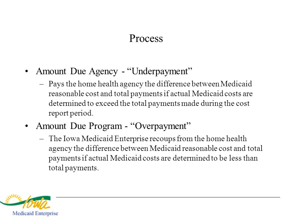 Process Amount Due Agency - Underpayment
