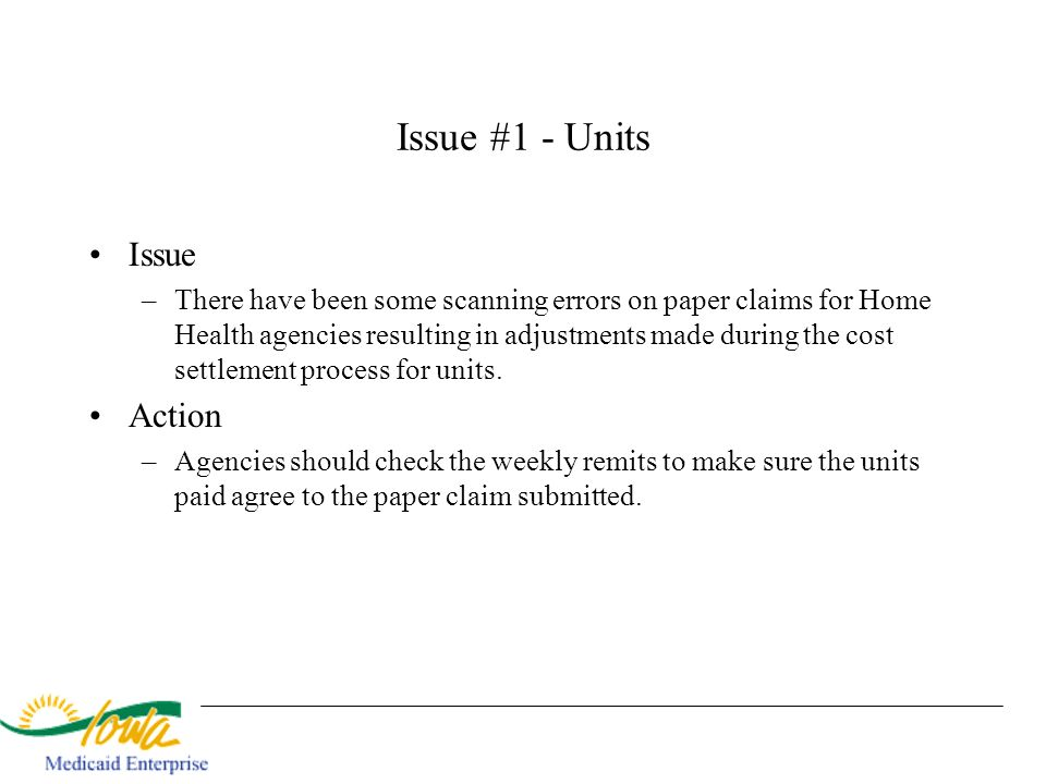 Issue #1 - Units Issue Action