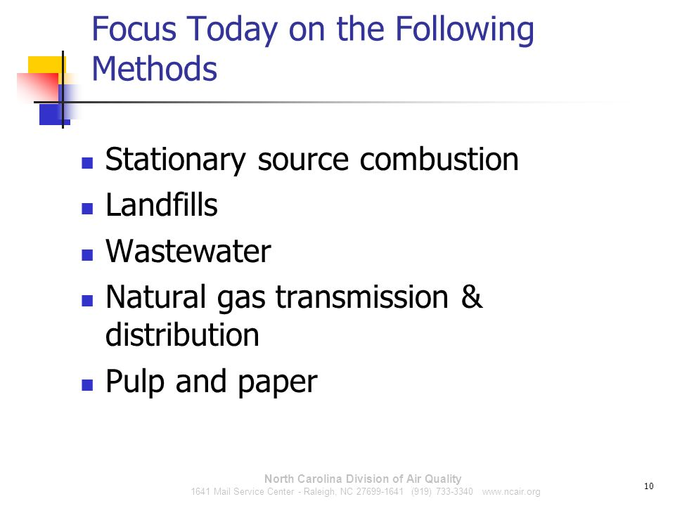 Focus Today on the Following Methods
