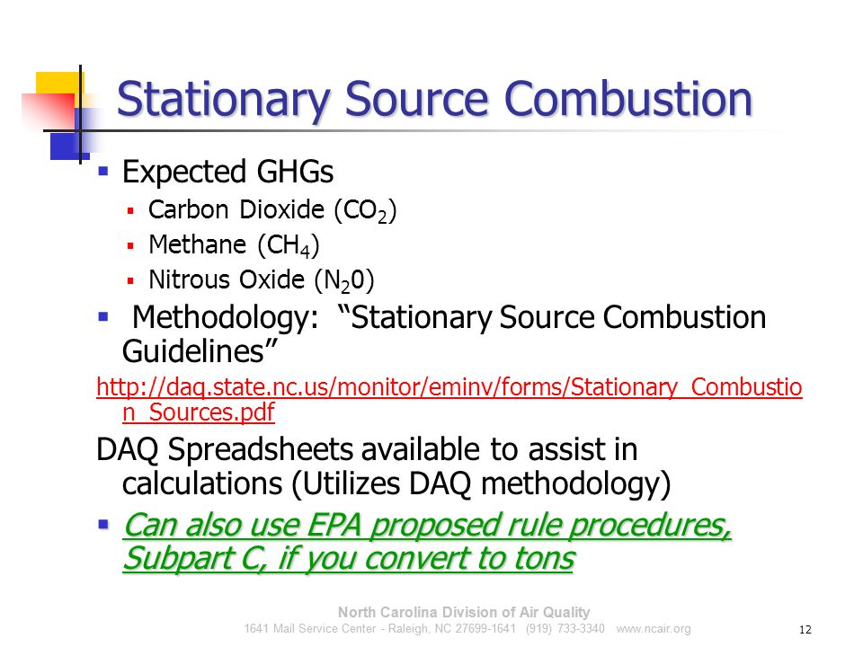 Stationary Source Combustion