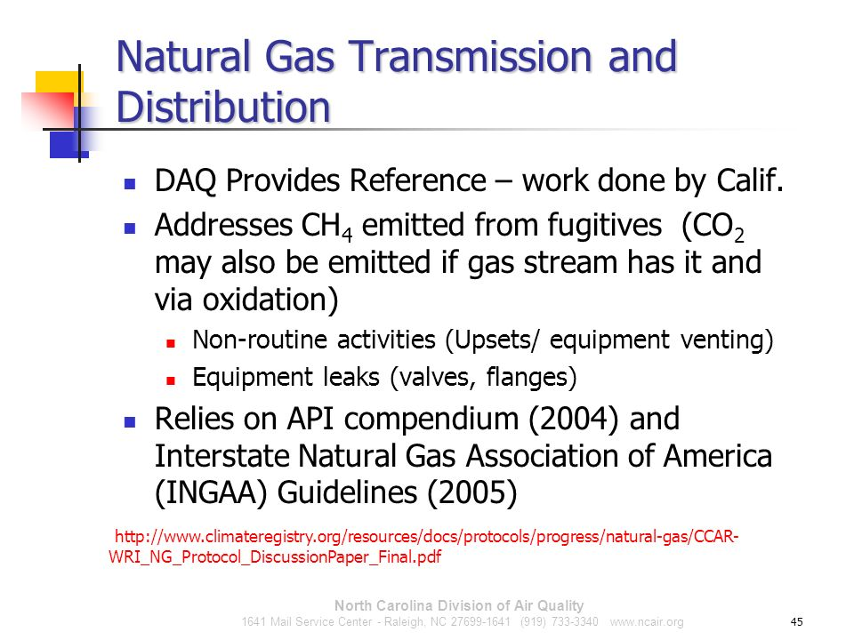 Natural Gas Transmission and Distribution