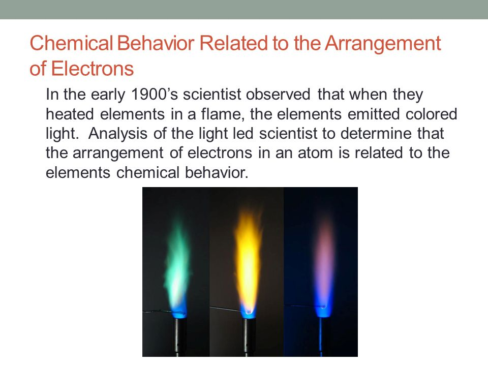 Chemical Behavior Related to the Arrangement of Electrons