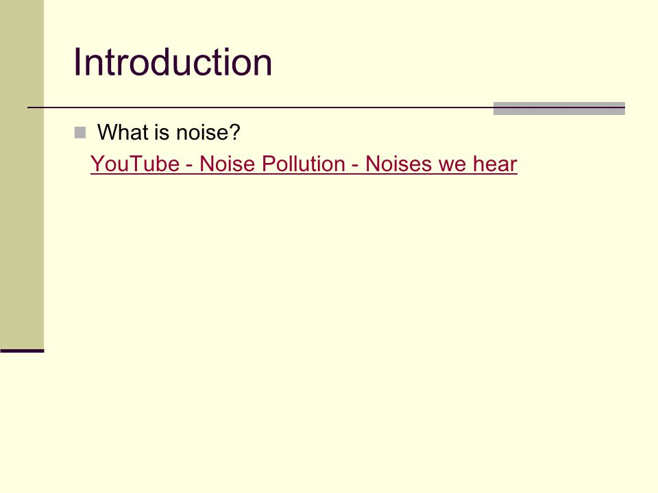 Noise Pollution - Role Play - - ppt video online download