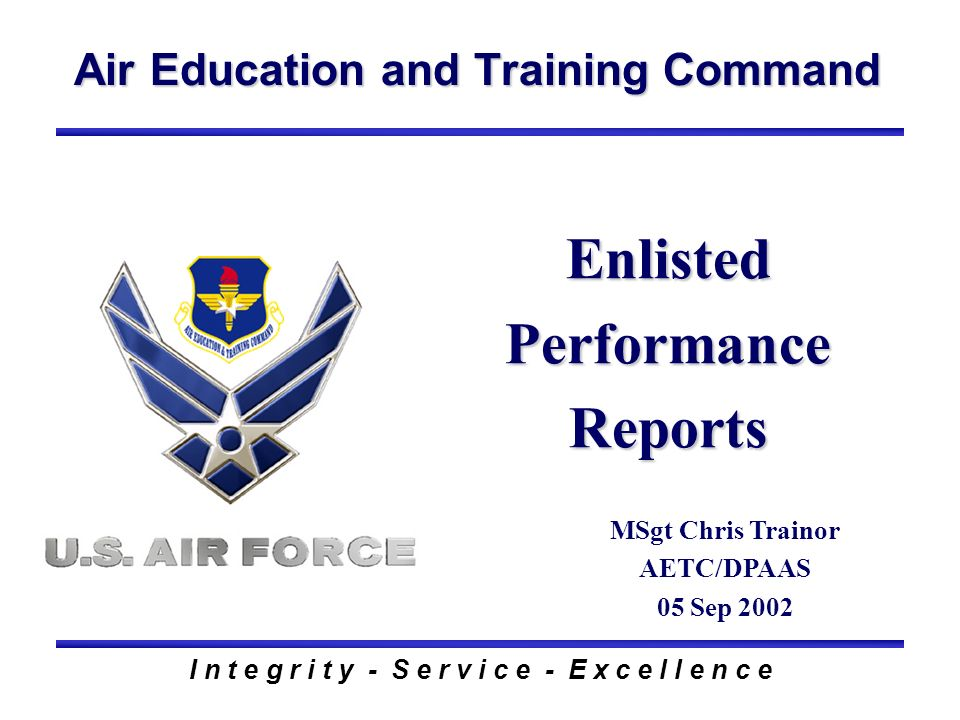 Enlisted Performance Reports