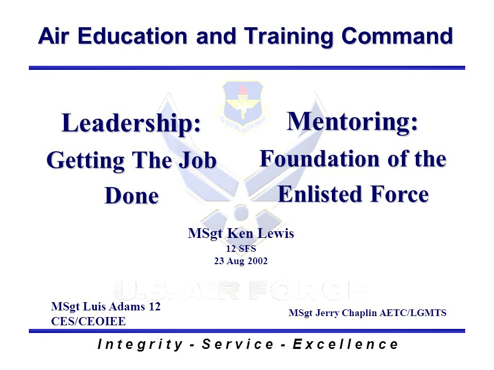 Mentoring: Foundation of the Enlisted Force