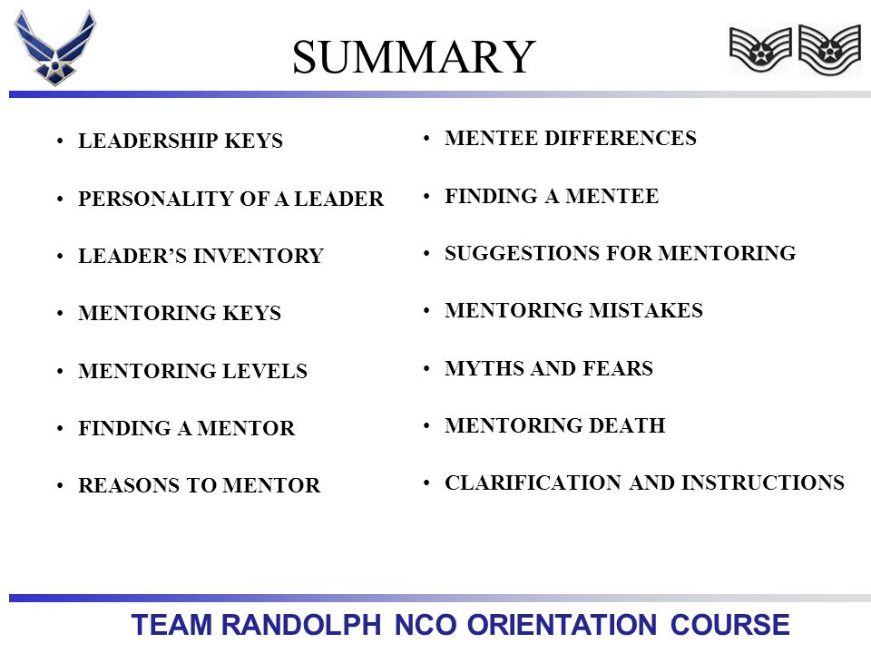 SUMMARY LEADERSHIP KEYS MENTEE DIFFERENCES PERSONALITY OF A LEADER