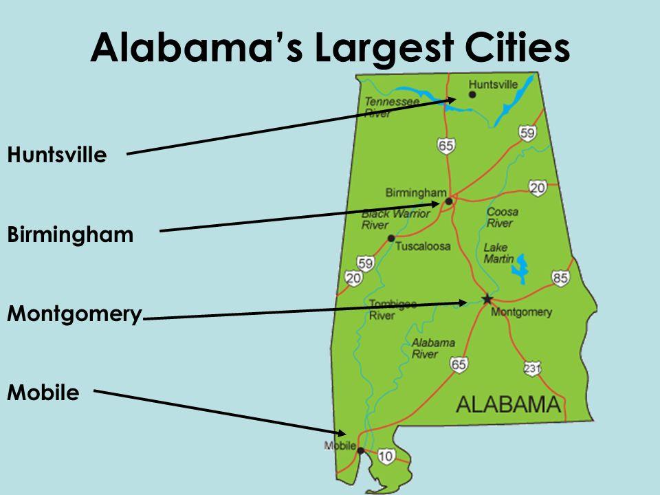 Major Cities Of Alabama