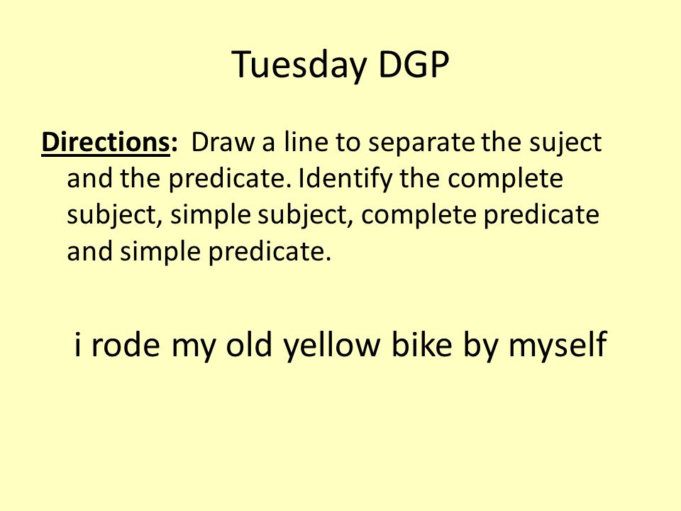 i rode my old yellow bike by myself