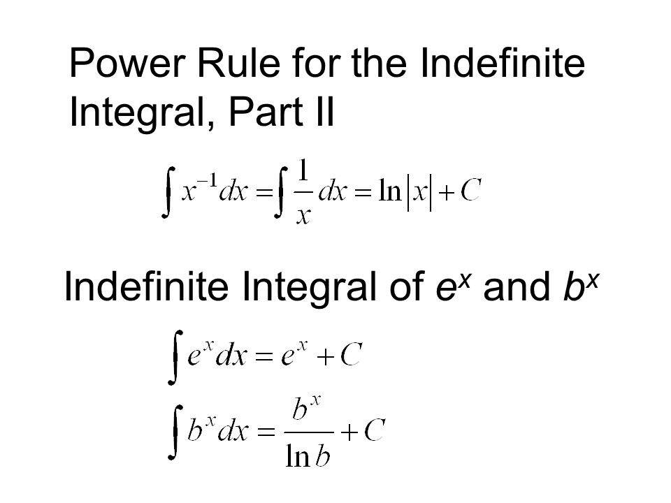 Power Rule for the Indefinite Integral, Part II