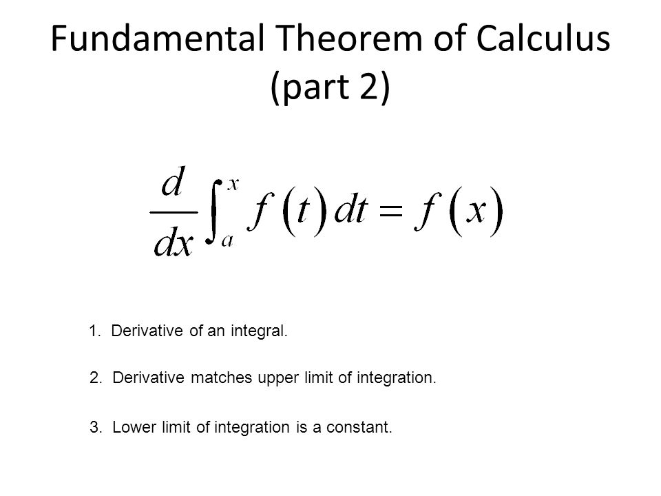 Fundamental Theorem of Calculus (part 2)