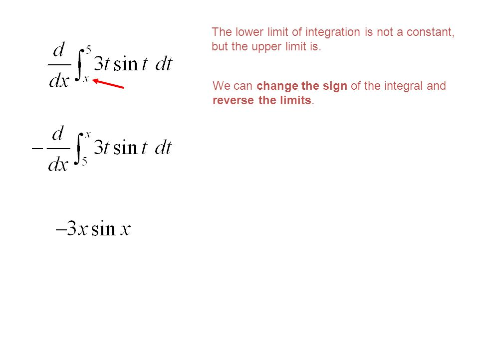 The lower limit of integration is not a constant, but the upper limit is.