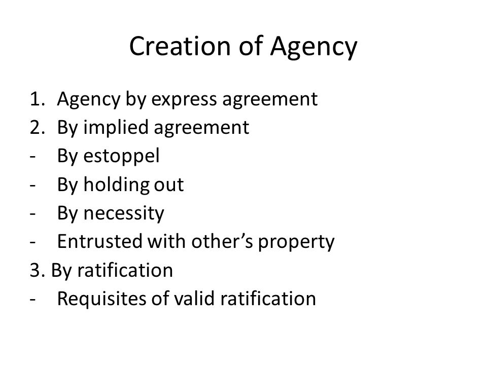 Law Of Agency Ppt Video Online Download