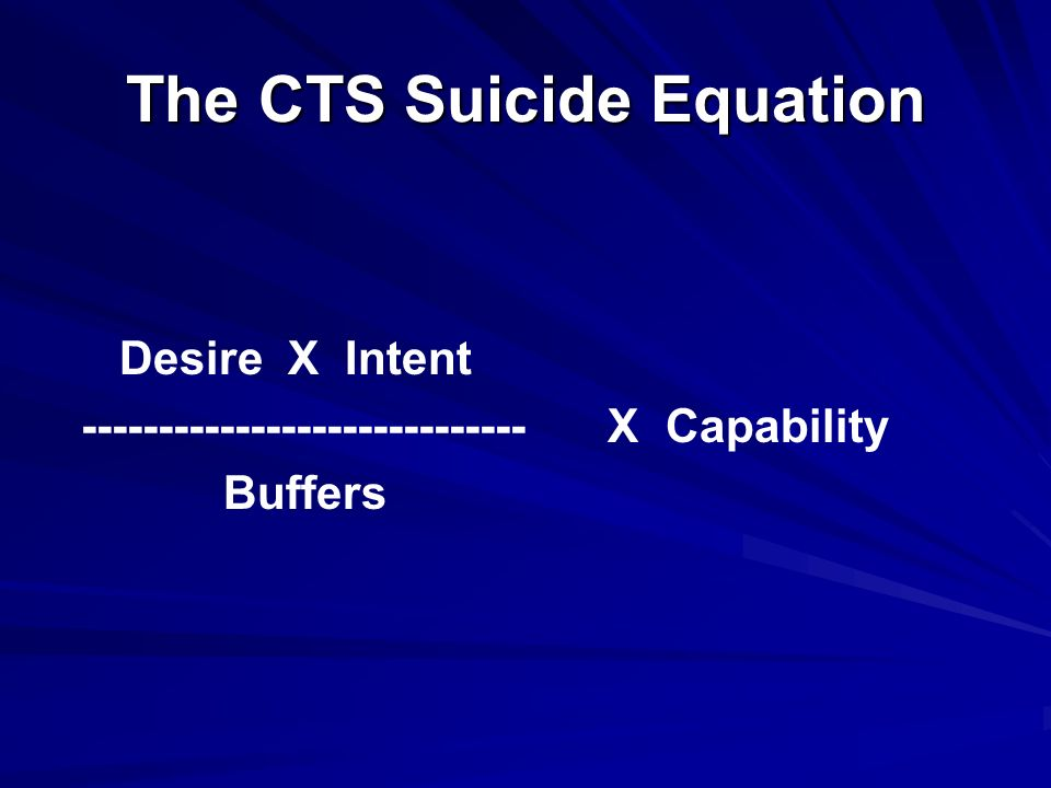 The CTS Suicide Equation