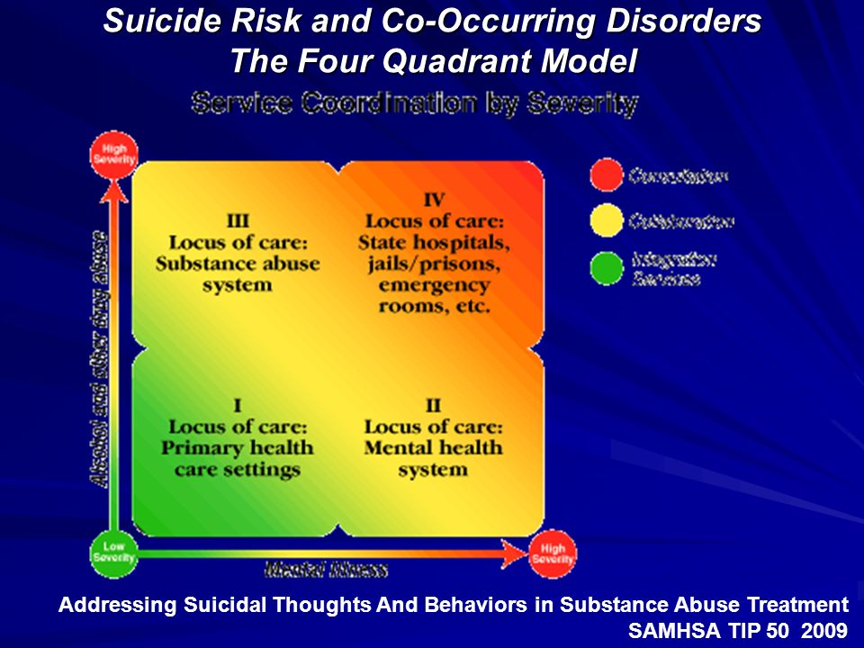 Suicide Risk and Co-Occurring Disorders The Four Quadrant Model