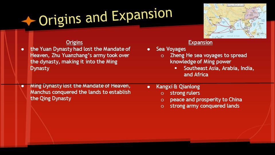 Origins and Expansion Origins