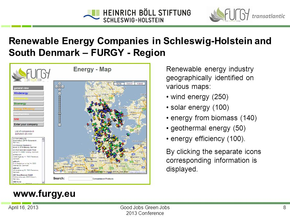 Renewable Energy Companies in Schleswig-Holstein and South Denmark – FURGY - Region