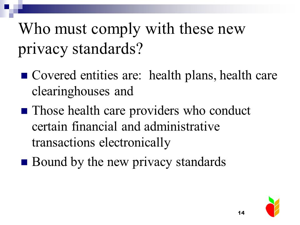 Who must comply with these new privacy standards