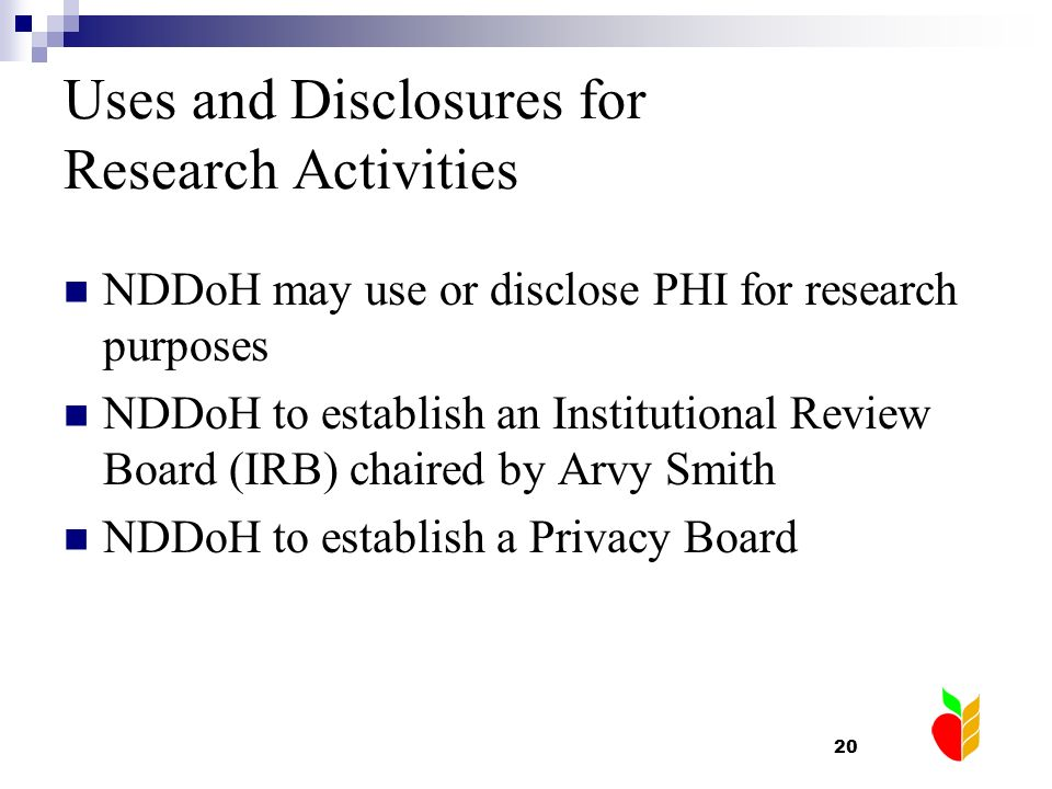 Uses and Disclosures for Research Activities