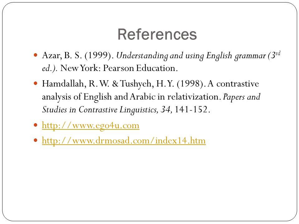 Linguistics of arabic and english contrastive Homework Example