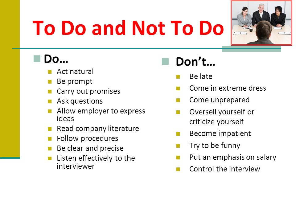 to do and not to do do dont act natural be late
