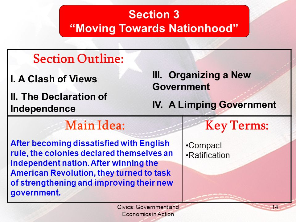 Moving Towards Nationhood