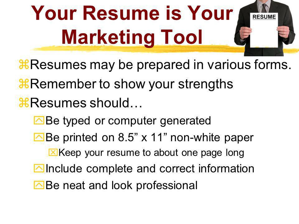 Your Resume is Your Marketing Tool
