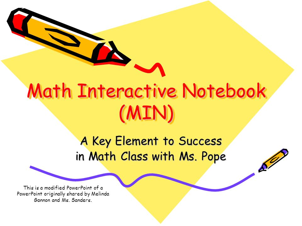 Math Interactive Notebook (MIN)
