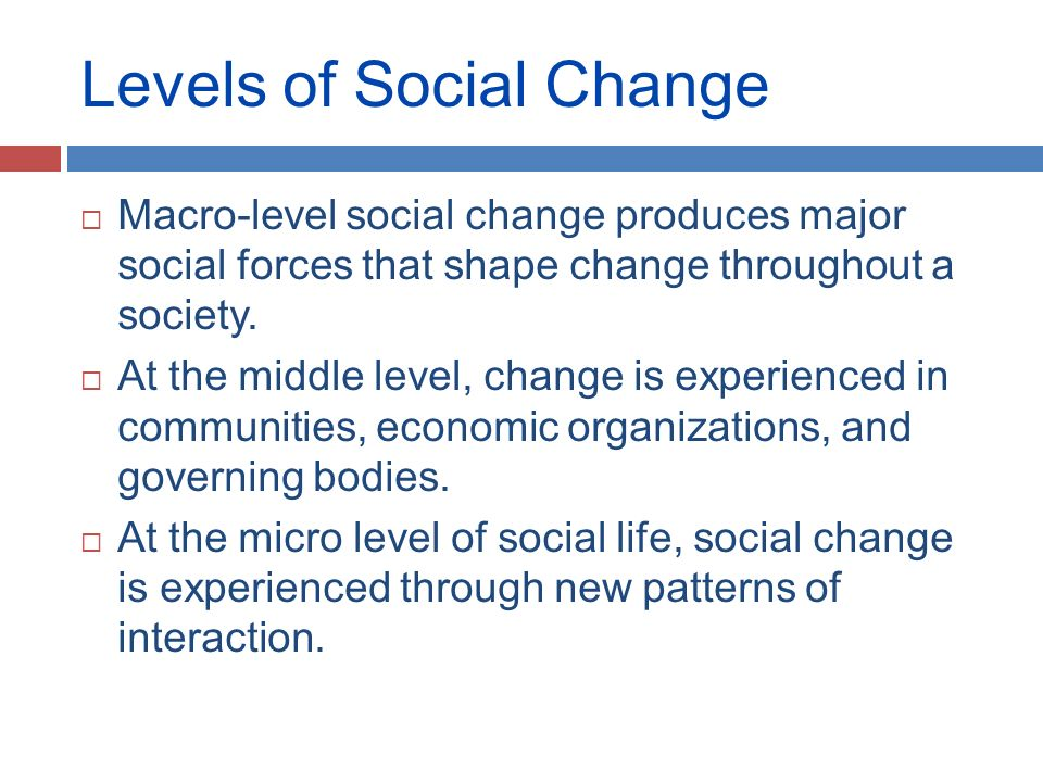 Working for social change at the global level