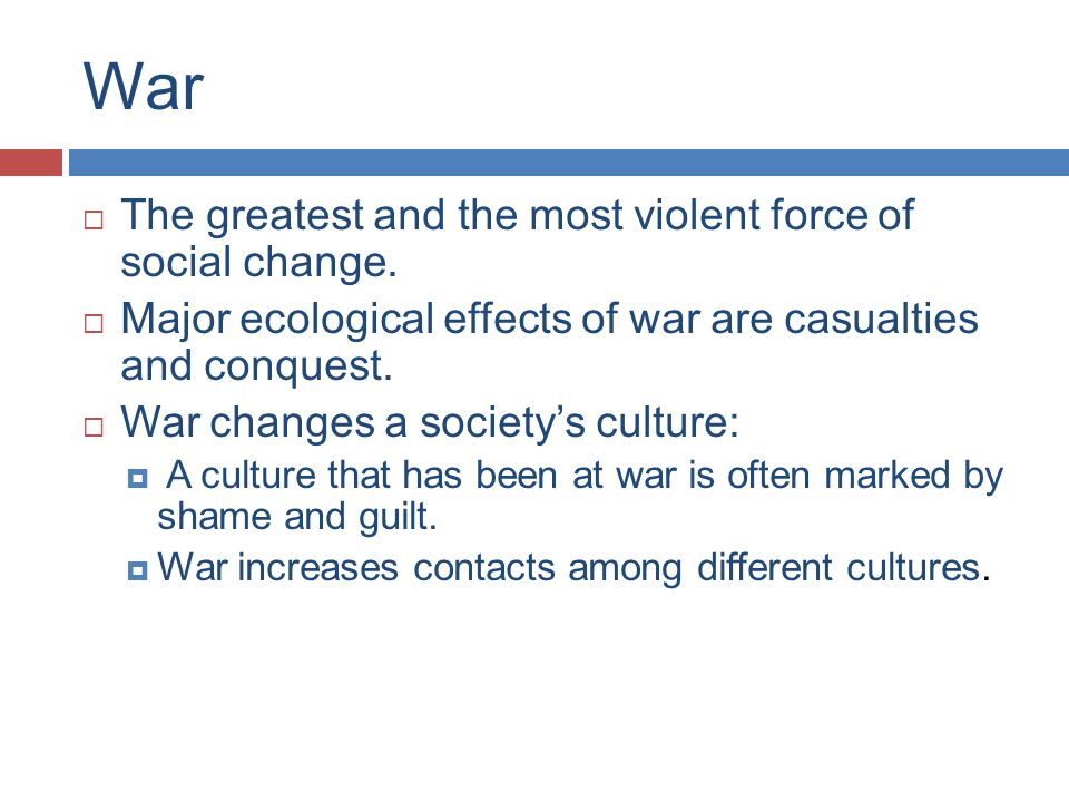 effects of social change in society