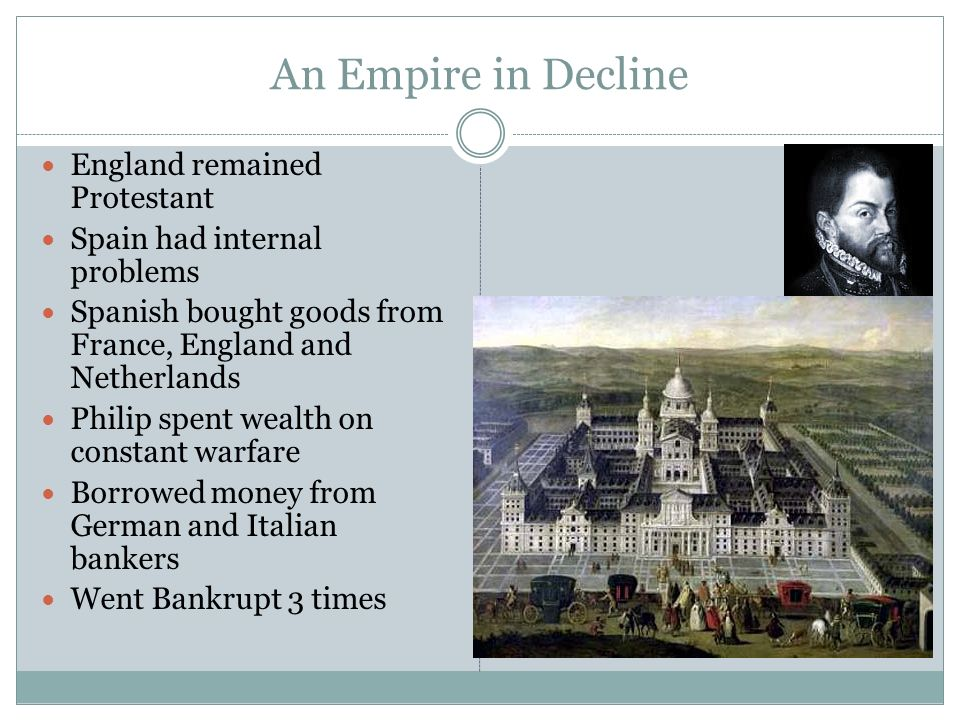 An Empire in Decline England remained Protestant