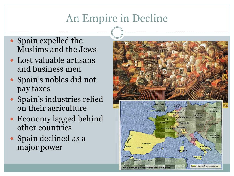 An Empire in Decline Spain expelled the Muslims and the Jews