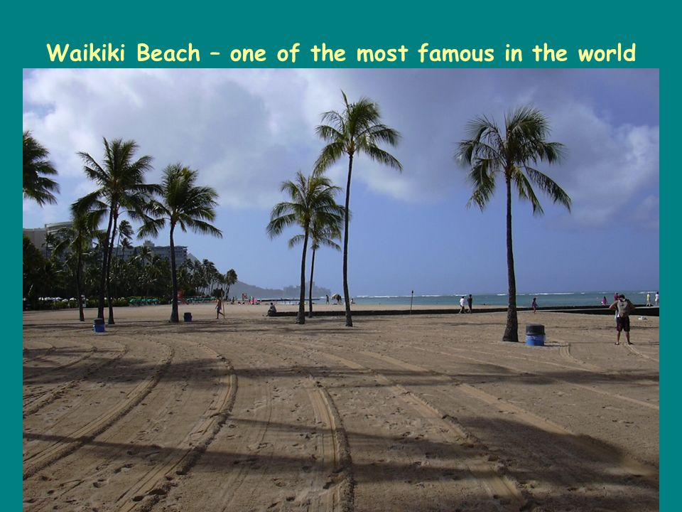 Waikiki Beach – one of the most famous in the world