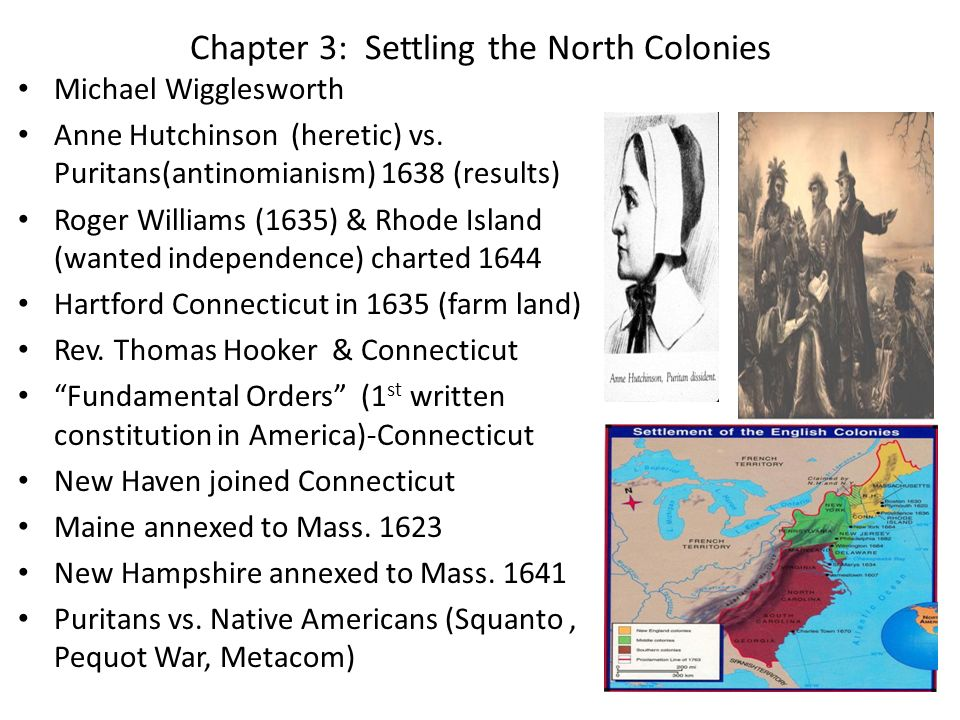 Chapter 3: Settling the North Colonies