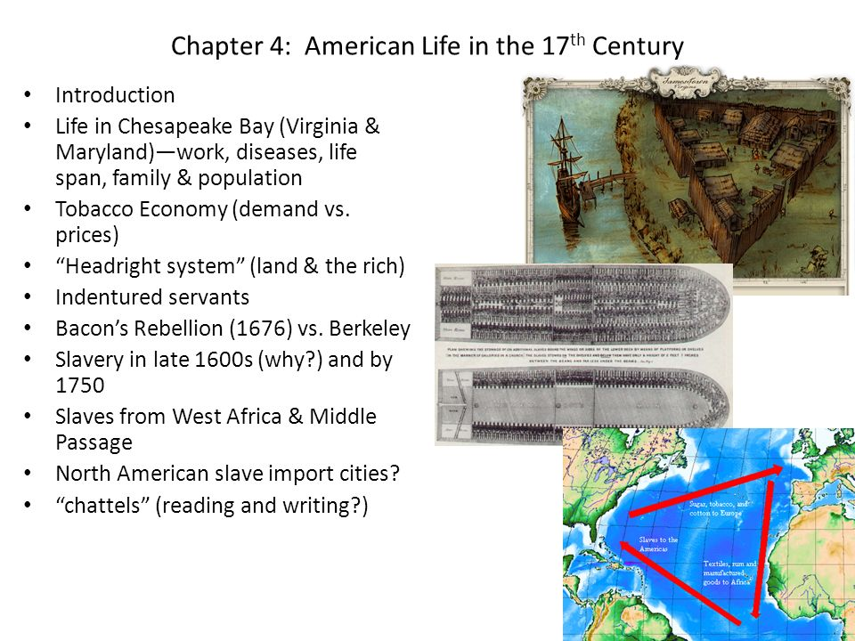 Chapter 4: American Life in the 17th Century