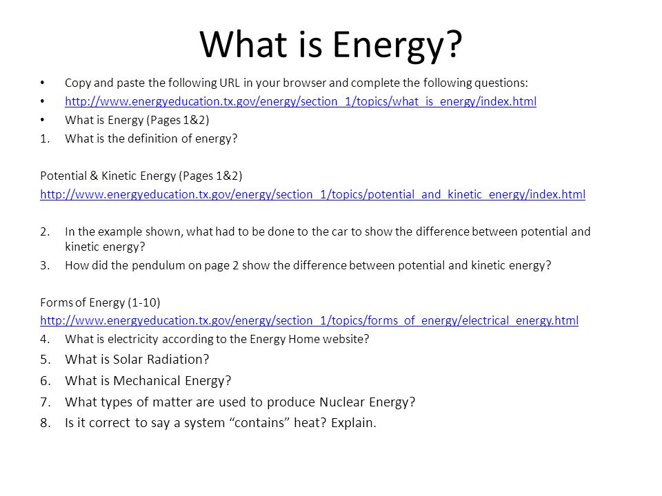 What is Energy What is Solar Radiation What is Mechanical Energy