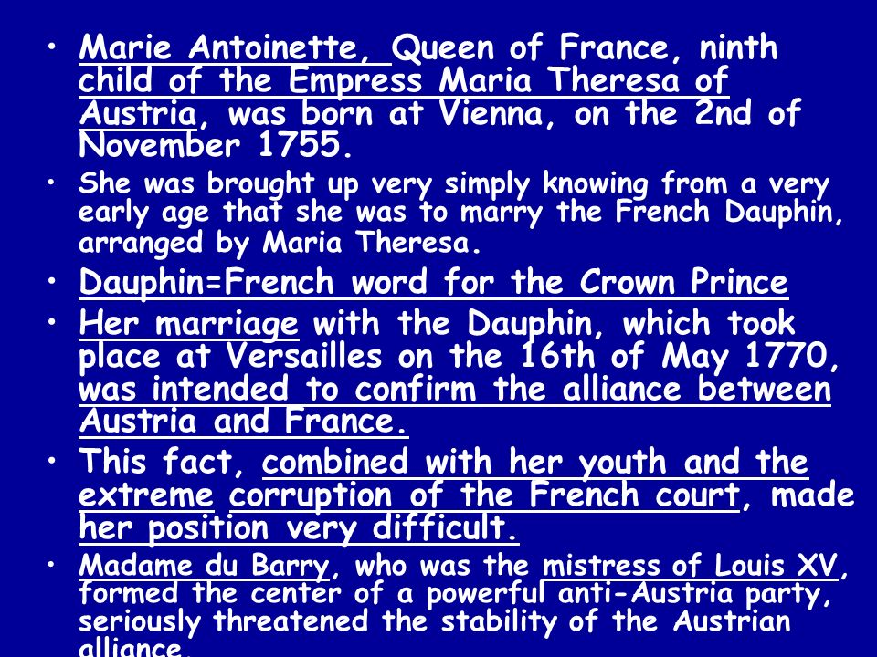 Dauphin=French word for the Crown Prince