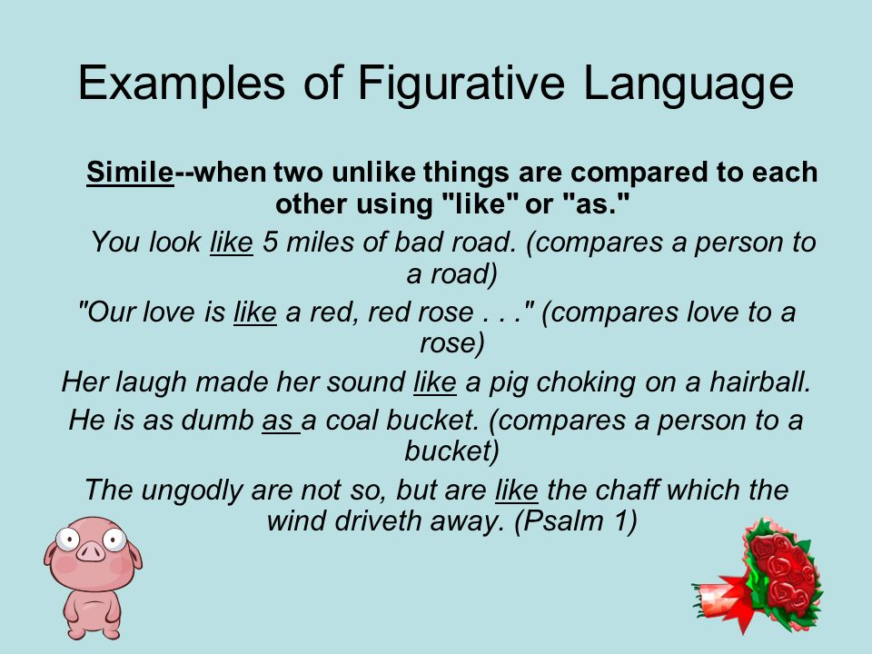 Examples of Figurative Language