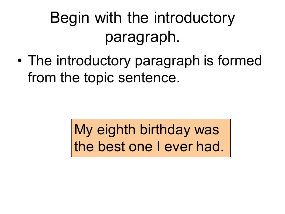 Sample Steps To The Five Paragraph Narrative Essay  Ppt Download Begin With The Introductory Paragraph