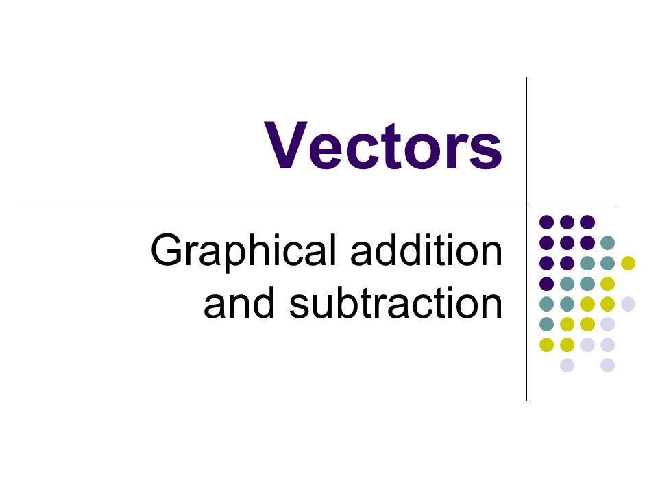 Graphical addition and subtraction