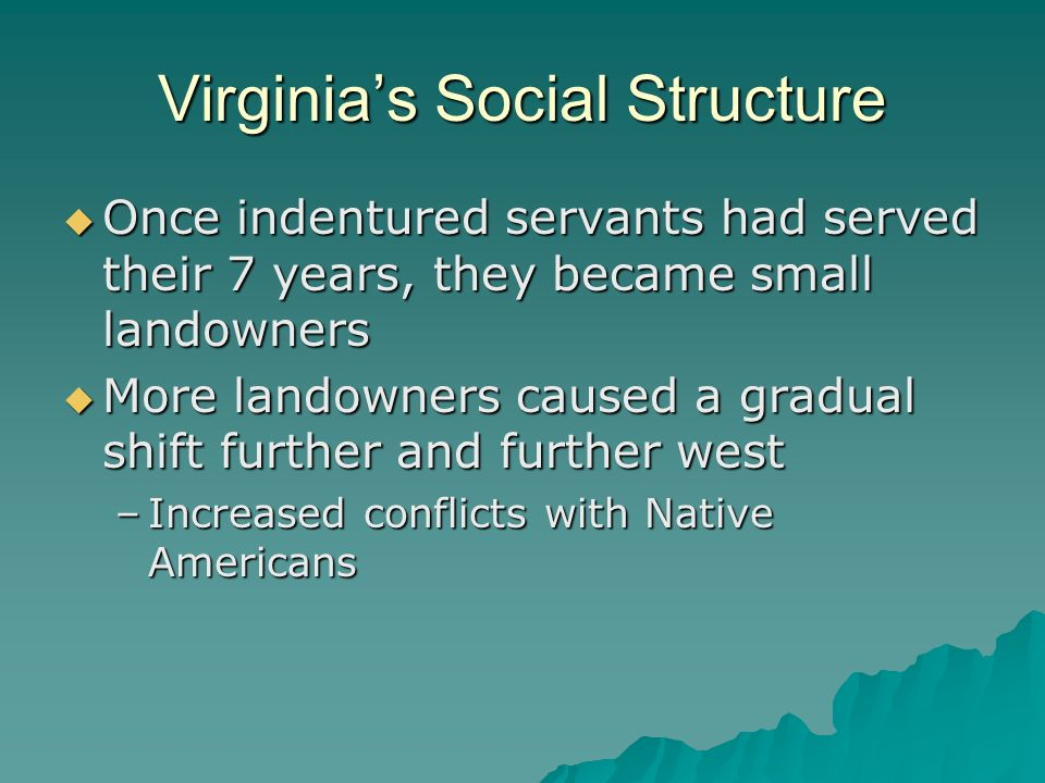 Virginia's Social Structure