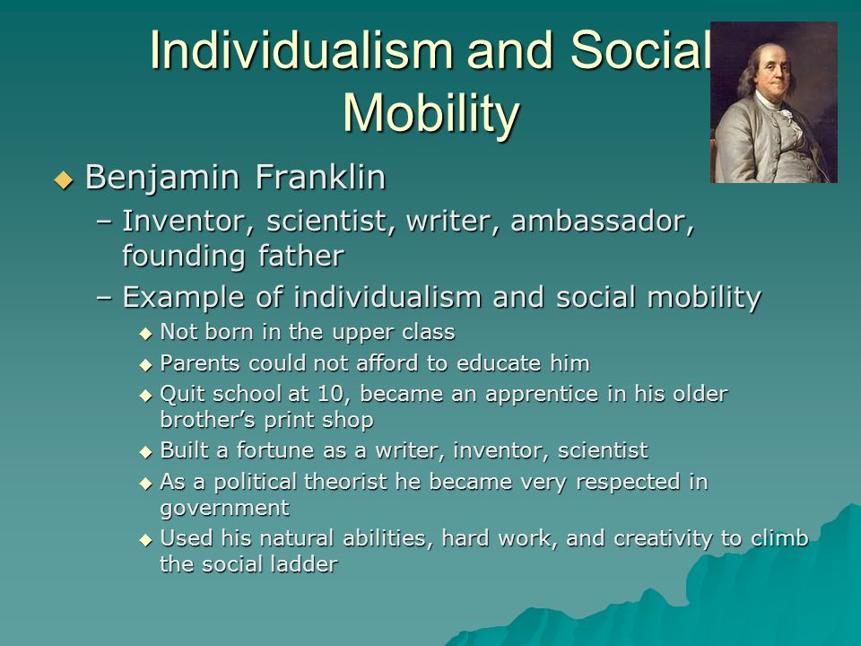 Individualism and Social Mobility