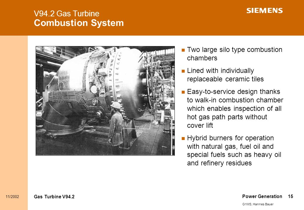 Content Gas Turbine Overview V94 2 Gas Turbine Product Line - ppt