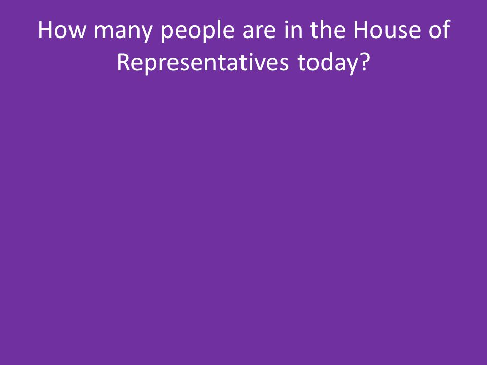 How many people are in the House of Representatives today