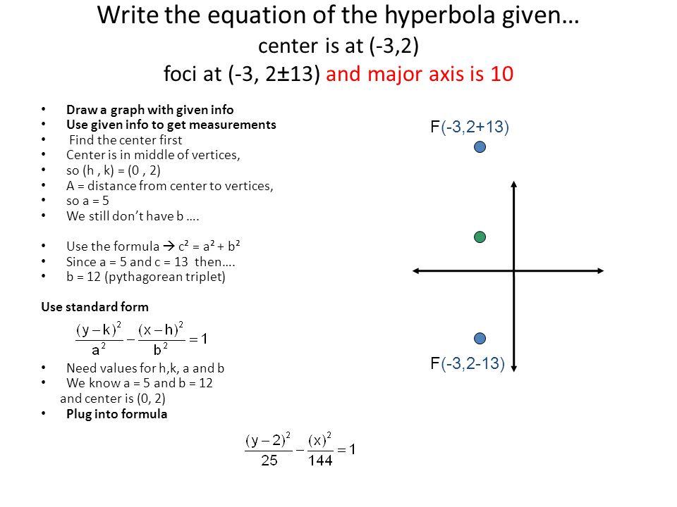 Equation Of Hyperbola In Standard Form S Free Design. Hyperbolas Ppt Video Online Download. Worksheet. Writing Equations Of Hyperbolas Worksheet Answers At Clickcart.co