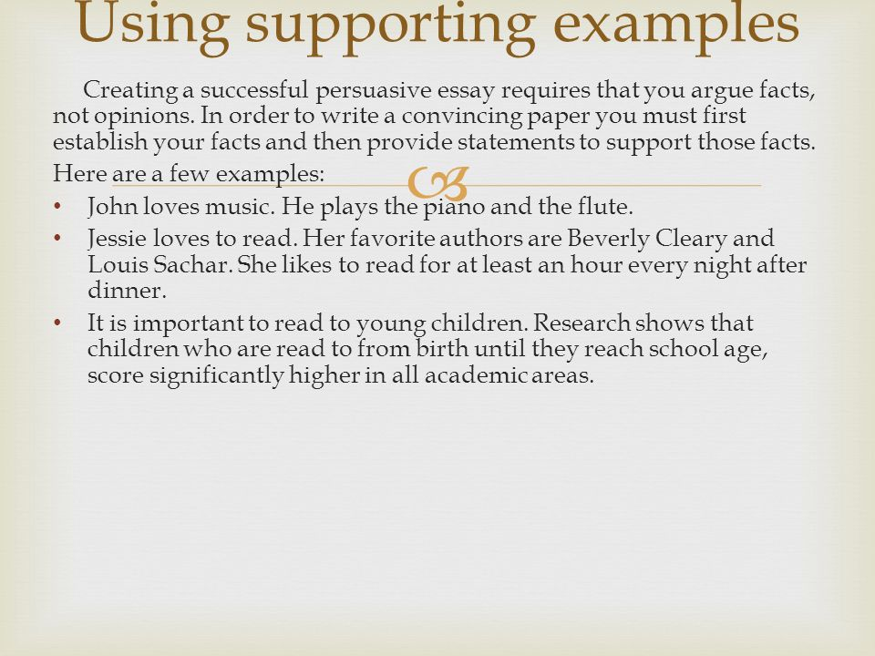 Using supporting examples